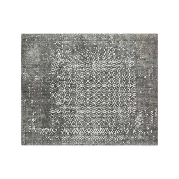 Orana Grey Print Rug 8'x10' - Crate and Barrel