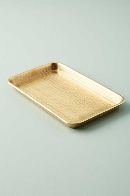 Hammered Brass Bath Collection-tray - Anthropologie