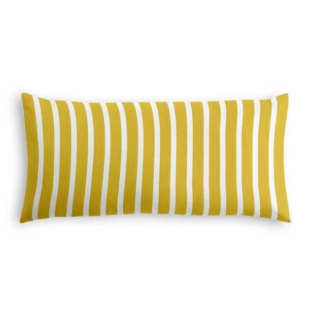 Lumbar pillow Sunbrella® Shore - Citron - Loom Decor