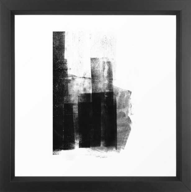 Black White Grey Abstract Monotype by GalleryJ9 - Society6