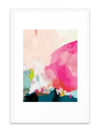 Pink Sky- 26 x 38- vector white frame - Society6