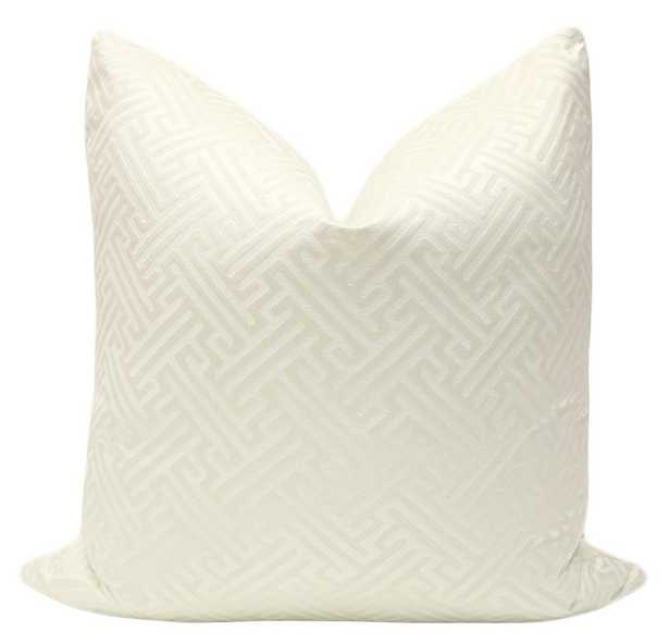 """Grecian Key // Alabaster, 18"""" Pillow Cover - Little Design Company"""