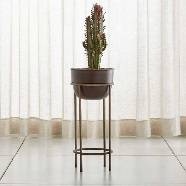 Wesley Medium Metal Plant Stand - Crate and Barrel