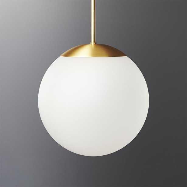Vega Indoor-Outdoor Brass Pendant Light - CB2