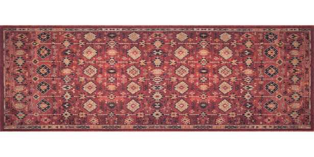 """Lucca Collection LF-02 MH BRICK / MULTI - 2'6""""x9'6"""" Runner - Loma Threads"""