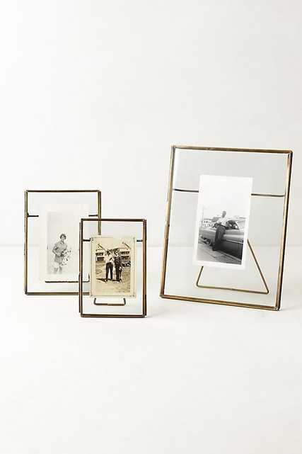"Pressed Glass photo frame 5"" x 7"" Brass - Anthropologie"