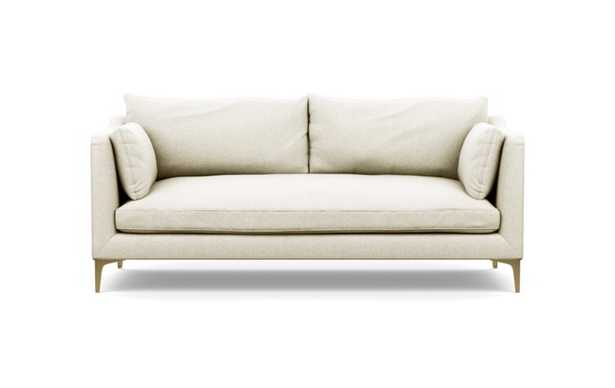 Caitlin by The Everygirl Sofa in Vanilla Fabric with Brass Plated legs - Interior Define