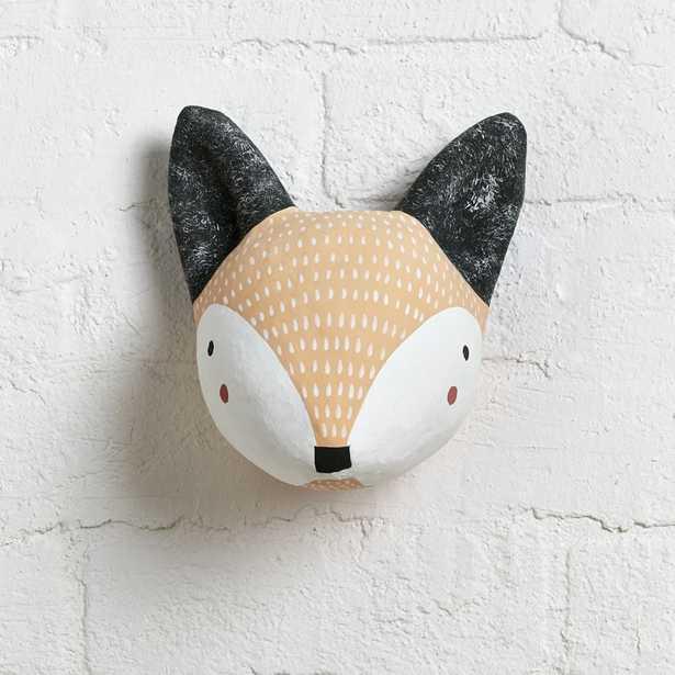 Paper Mache Fox Head - Crate and Barrel