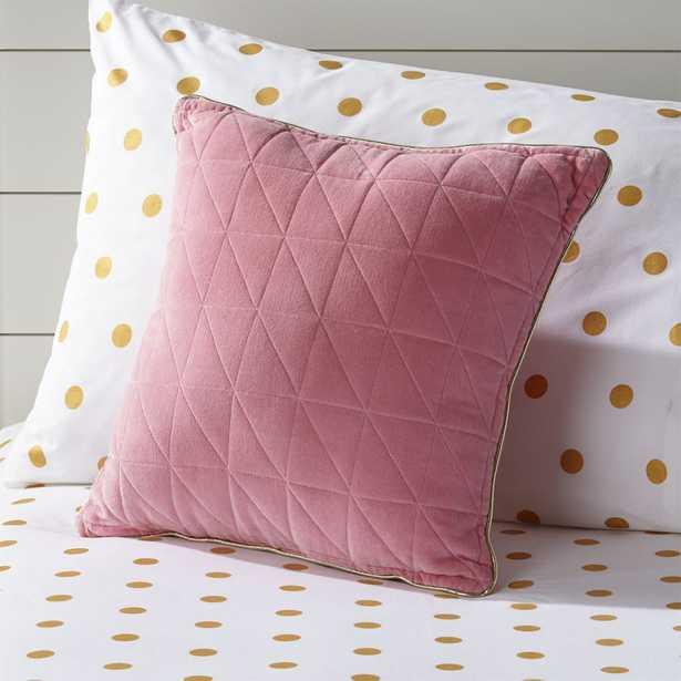 Pink Velvet Throw Pillow - Crate and Barrel