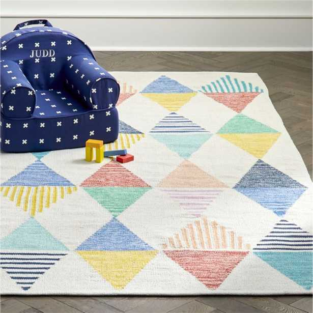 Colorful Triangle 5 x 8' Rug - Crate and Barrel