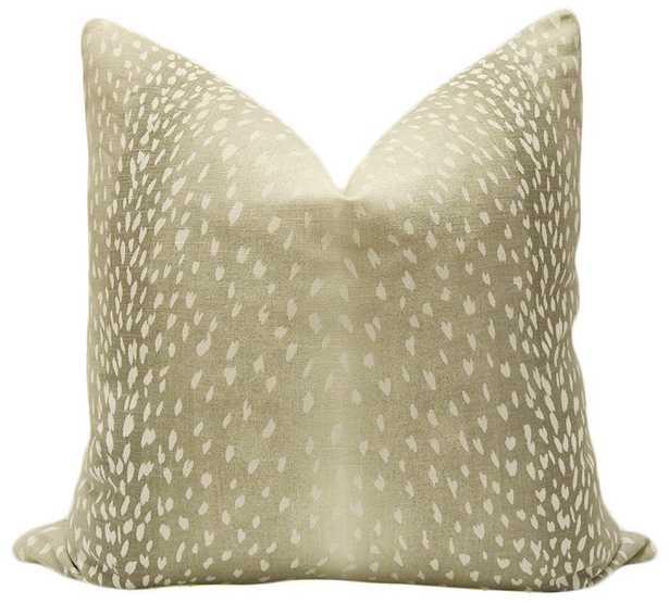 "Antelope Linen Print // Natural - 20"" X 20"" - Little Design Company"