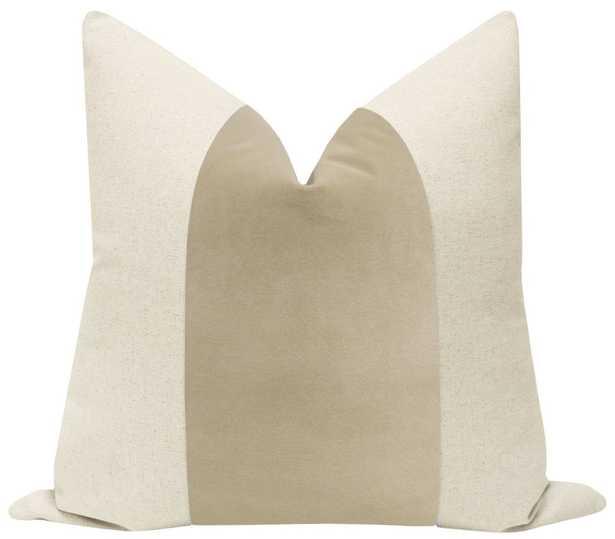 "PANEL :: Signature Velvet // Stone - 20"" X 20"" - Little Design Company"