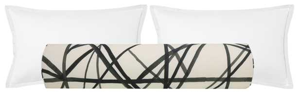 """The Bolster :: Channels // Ebony + Ivory - QUEEN // 9"""" X 36"""" - Little Design Company"""