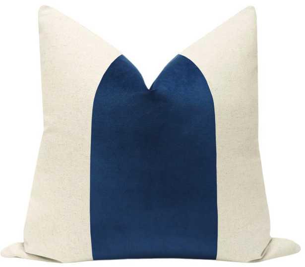 """PANEL :: Classic Velvet // Sapphire - 22"""" X 22""""_Pillow insert not included. - Little Design Company"""