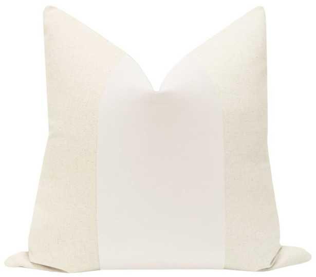 "PANEL :: Signature Velvet // Alabaster - 20"" X 20"" - Little Design Company"