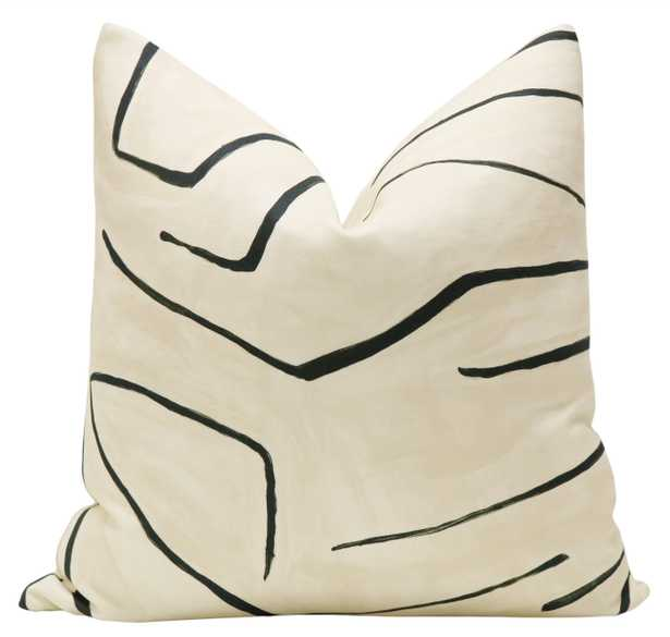 "Graffito // Linen + Onyx - 15"" X 22"" Pillow Cover - Little Design Company"