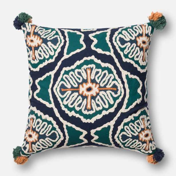 """Loloi x Justina Blakeney collection - BLUE / TEAL - 22"""" X 22"""" Cover w/Down - Loma Threads"""
