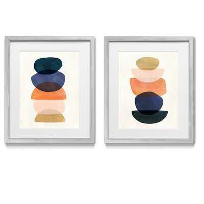 Mod Pods I - 2 Piece Picture Frame Graphic Art Print Set on Paper - Wayfair