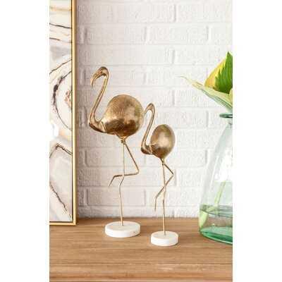 2 Piece Helsel Flamingo Figurine Set - Wayfair