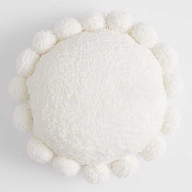Cozy Pom Recycled Sherpa Pillow, One Size, Ivory - Pottery Barn Teen
