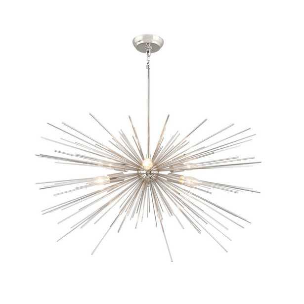 Y Decor 6-Light Nickel Sputnik Chandelier - Home Depot