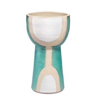 Kylemore Aqua Blue 12'' Ceramic Table Vase - Wayfair