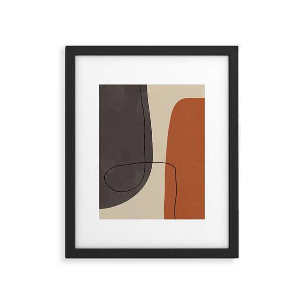"Modern Abstract Shapes Ii by Alisa Galitsyna - Modern Framed Art Print Black 16"" x 20"" - Studio Marcette"