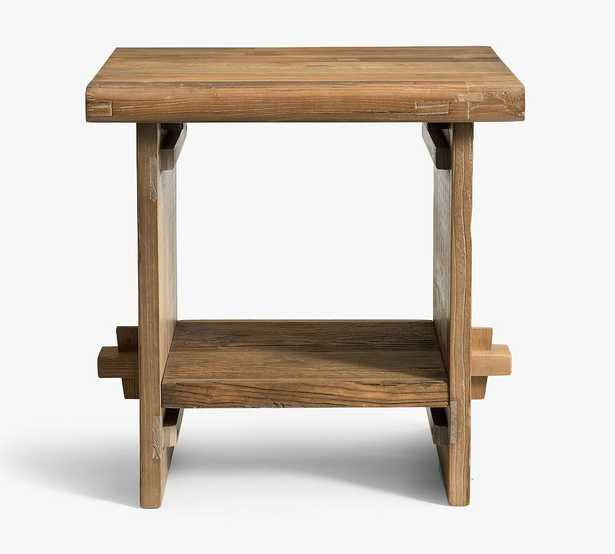 Easton Reclaimed Wood End Table, Weathered Elm - Pottery Barn