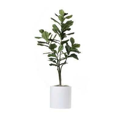 "66"" Artificial Fiddle Leaf Fig Tree in Planter - Wayfair"