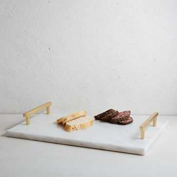 Marble + Brass Cheese Board, Gold - West Elm