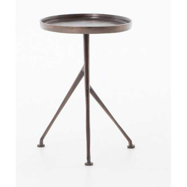 Four Hands Schmidt Aluminum Side Table Color: Antique Rust - Perigold