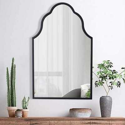 """Arch Wall Mirror For Decor Antique Black Decorative Mirror With Wooden Frame Large Modern Accent Mirror For Foyer Bathroom Bedroom 32"""" H X 20"""" W - Wayfair"""