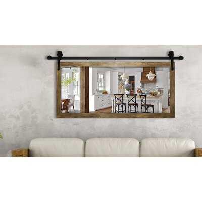 Fujimoto Barnwood Beveled Wall Mirror - Wayfair