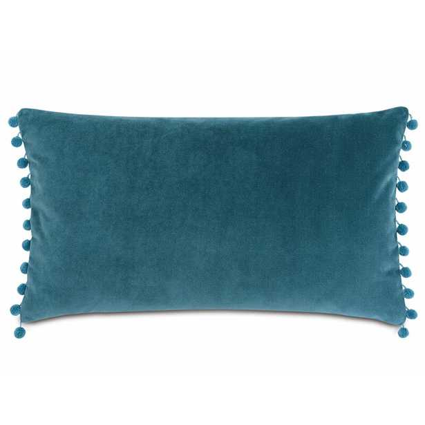Eastern Accents Plush Frou Cotton Lumbar Pillow Color: Teal - Perigold