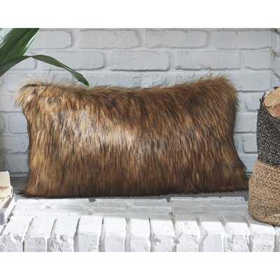 Johnnie Rectangular Faux Fur Pillow Cover and Insert - Wayfair