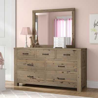 Bedlington 7 Drawer Solid Wood Double Dresser with Mirror - Wayfair