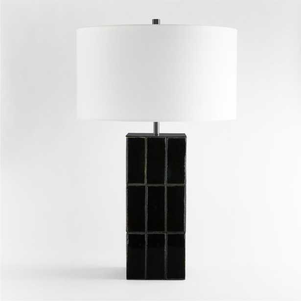 Vista Ceramic Tile Black Table Lamp - Crate and Barrel