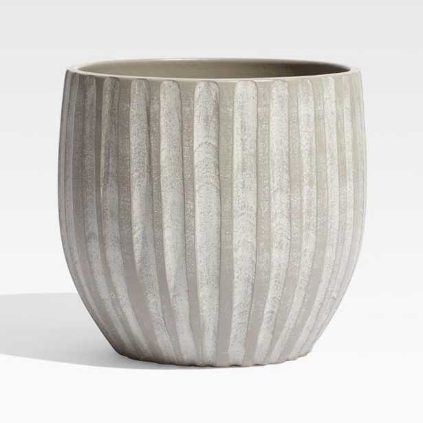 Mae Tall Cement Planter - Crate and Barrel