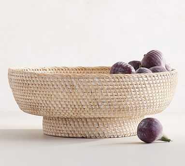 Tava Woven Decorative Bowl, Ivory, Medium - Pottery Barn