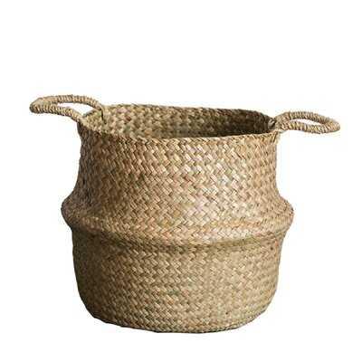 Pop Up Belly Wicker/Rattan Basket - Wayfair