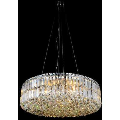 Willowick 12 - Light Unique / Statement Drum Chandelier with Crystal Accents - Wayfair
