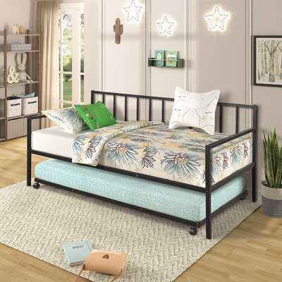 Trundle Multifunctional Metal Lounge Daybed Frame For Living Room Guest Room,twin - Wayfair