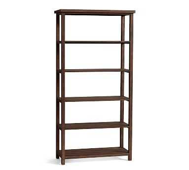 Mateo Wide Bookcase, Salvaged Black - Pottery Barn