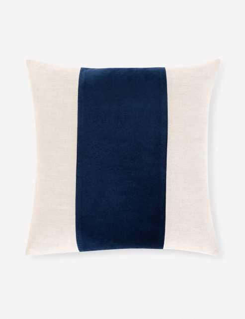 "Nance Pillow, Blue 20"" x 20"" - Lulu and Georgia"