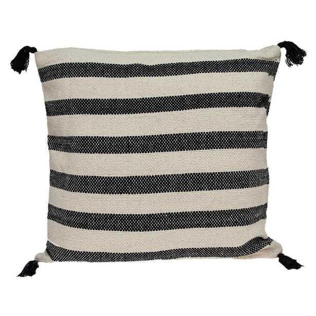 PARKLAND COLLECTION Cruza Transitional Beige Throw Pillow - Home Depot