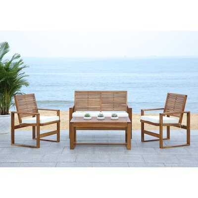 Andralyn 4 Piece Sofa Seating Group with Cushions - Wayfair