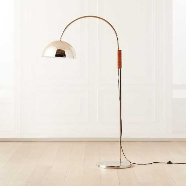 Jett Champagne Arched Floor Lamp - CB2
