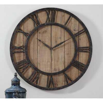 Oversized Palmhurst Powell Wall Clock - Wayfair