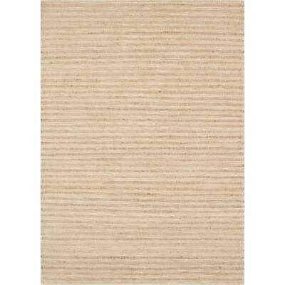 Ginnie Striped Handwoven Flatweave Jute/Sisal/Wool Beige Area Rug - Wayfair