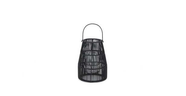 Vezda Black Small Table Lantern - Article